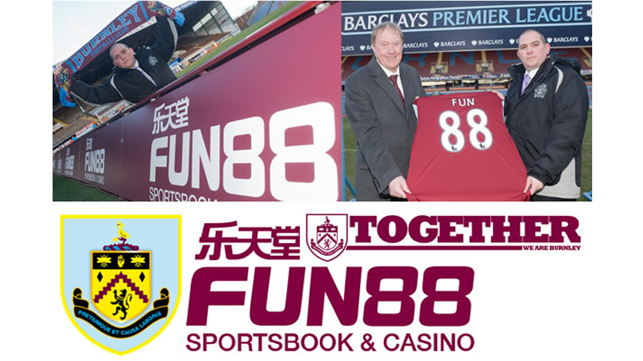 Fun88 was the official betting partner for the Lancashire-based football club Burnduring its 2010 Premiership campaign