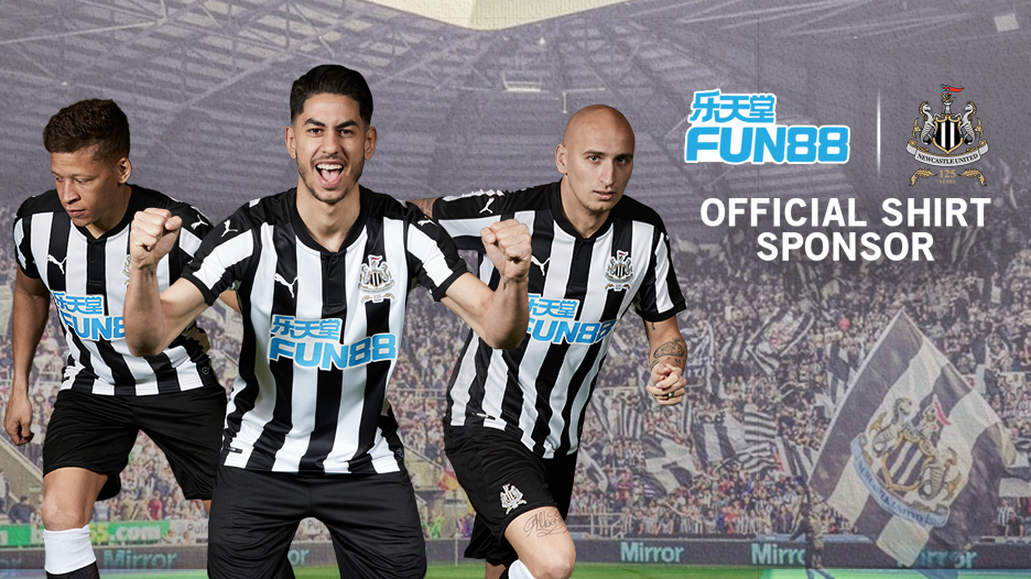 Fun88 is delighted to be Newcastle United Football Club's Shirt Sponsor